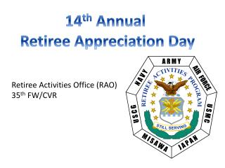Retiree Activities Office (RAO) 35 th  FW/CVR