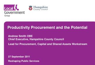 Productivity Procurement and the Potential