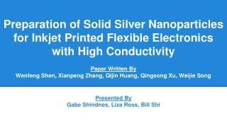Paper Written By Wenfeng Shen, Xianpeng Zhang, Qijin Huang, Qingsong Xu, Weijie Song