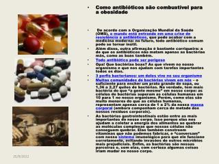Como antibióticos são combustível para a obesidade