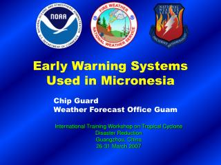 Early Warning Systems Used in Micronesia