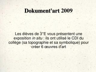 Dokument'art  2009
