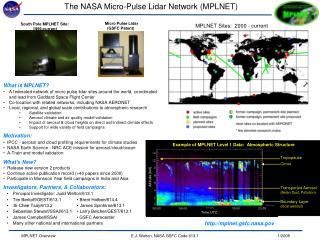 The NASA Micro-Pulse Lidar Network (MPLNET)