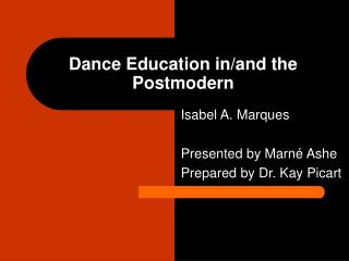Dance Education in