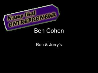 Ben Cohen