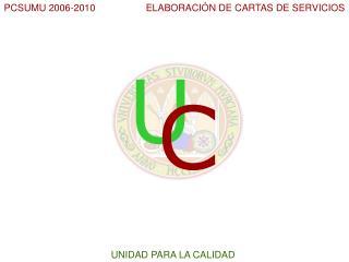 PLAN DE CALIDAD EN LOS SERVICIOS UNIVERSITARIOS UNIVERSIDAD DE MURCIA 2006-2010
