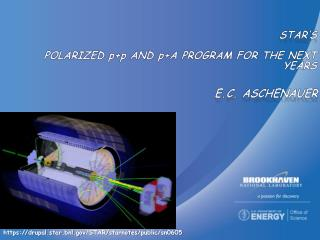 STAR�s polarized  p+p  and  p +A  program for the  next years