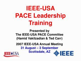 IEEE-USA  PACE Leadership Training