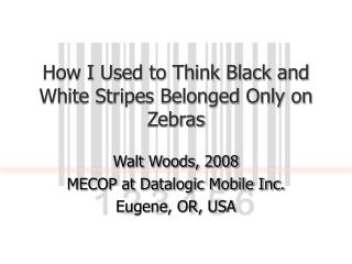 How I Used to Think Black and White Stripes Belonged Only on Zebras