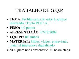 TRABALHO DE G.Q.P.
