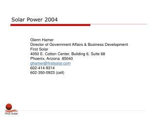 Solar Power 2004