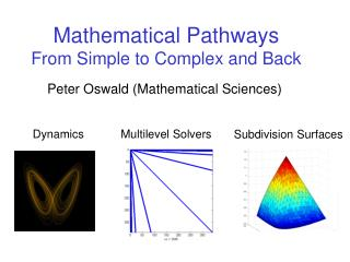 Mathematical Pathways From Simple to Complex and Back