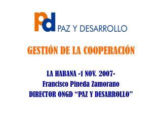 GESTIÓN DE LA COOPERACIÓN
