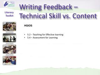 Writing Feedback – Technical Skill vs. Content