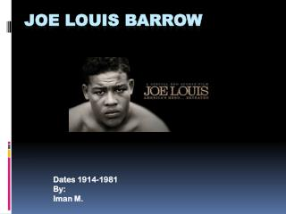 Joe Louis Barrow