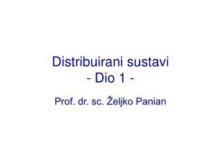 Distribuirani sustavi - Dio 1 -