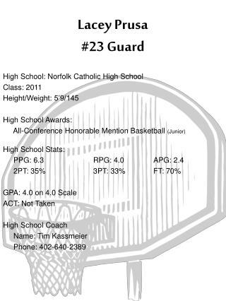 Lacey Prusa #23 Guard