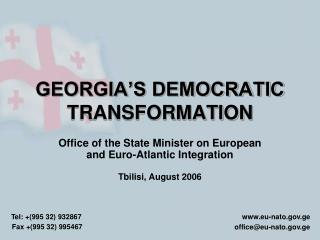 GEORGIA'S DEMOCRATIC TRANSFORMATION