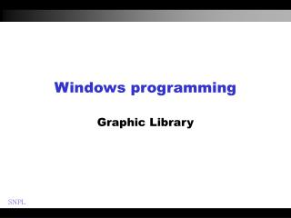 Windows programming Graphic Library