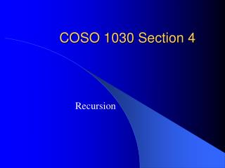 COSO 1030 Section 4