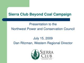 Sierra Club Beyond Coal Campaign