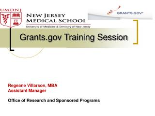 Regeane Villarson, MBA Assistant Manager  Office of Research and Sponsored Programs