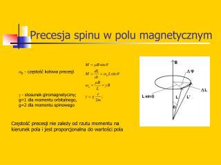 Precesja spinu w polu magnetycznym