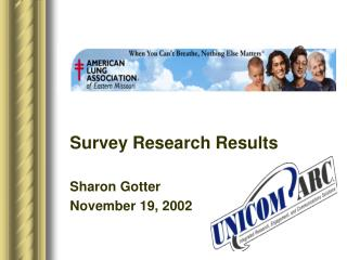 Survey Research Results Sharon Gotter November 19, 2002