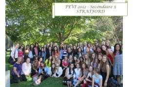 PEVI 2012 -  Secondaire  5 STRATFORD