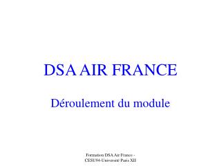 DSA AIR FRANCE