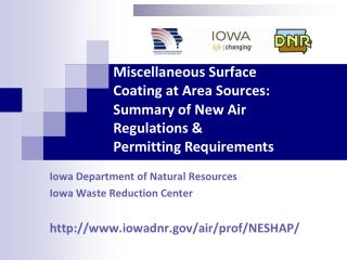 Miscellaneous Surface     Coating at Area Sources: