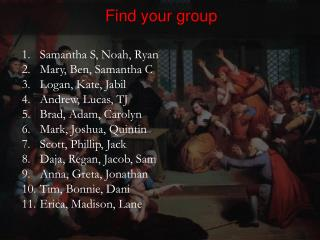 Find your group