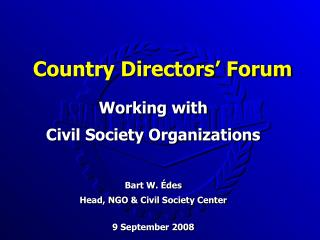 Country Directors' Forum