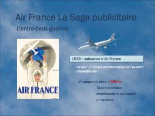 Air France La Saga publicitaire