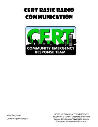 CERT Basic Radio Communication