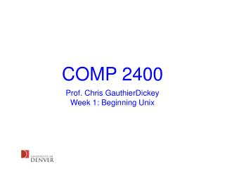 COMP 2400