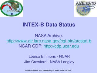 Louisa Emmons - NCAR Jim Crawford - NASA Langley