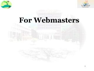 For Webmasters