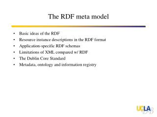 The RDF meta model