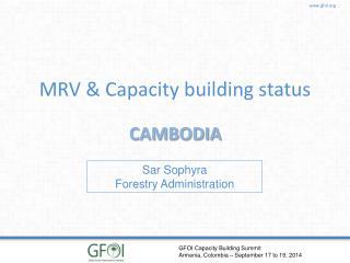 MRV & Capacity building status
