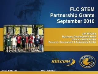 FLC STEM Partnership Grants September 2010