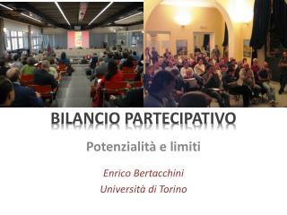 BILANCIO PARTECIPATIVO
