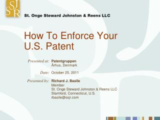 How To Enforce Your U.S. Patent