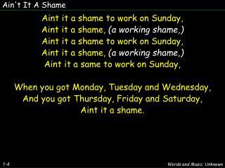 Ain't It A Shame