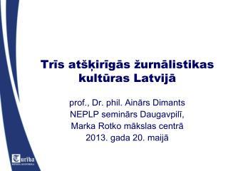 Trīs atšķirīgās žurnālistikas kultūras Latvijā