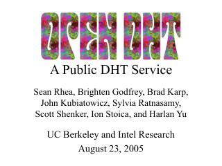 A Public DHT Service