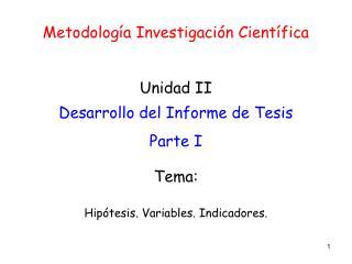 Metodología Investigación Científica