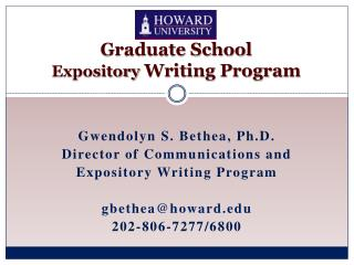 Graduate School  Expository  Writing Program