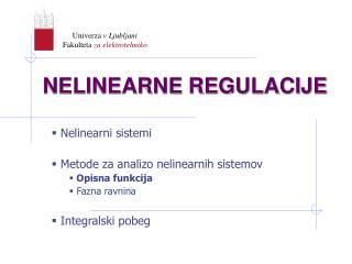 NELINEARNE REGULACIJE