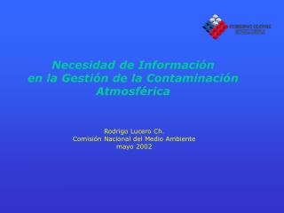 Necesidad de Información en la Gestión de la Contaminación Atmosférica